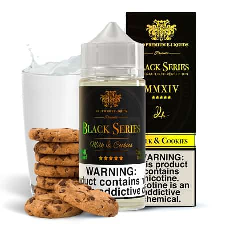 Kilo 120ml e-liquid bottle with Milk and Cookies