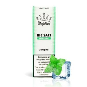 King's Dew 10ml Menthol e-liquid bottle in nicotine salts