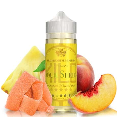 Pineapple Peach Sours 120ml vape juice by KILO with candy and fruits