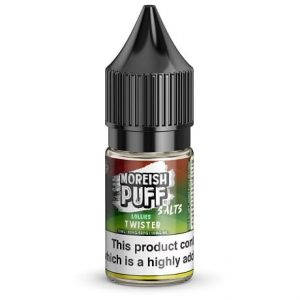 Lollies Twister Moreish Puff 10ml nicotine salt e-liquid bottle