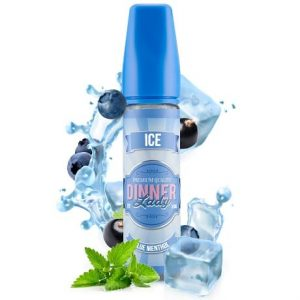 60ml Vape Juice Dinner Lady Blue Menthol with Ice and water splah