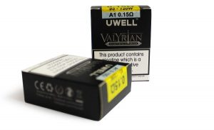 two packs of Uwell Valyrian 0.15 Coils
