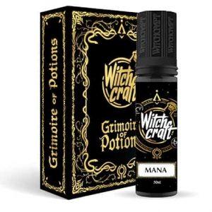 Witchcraft Mana 60ml e-liquid bottle in the magic book