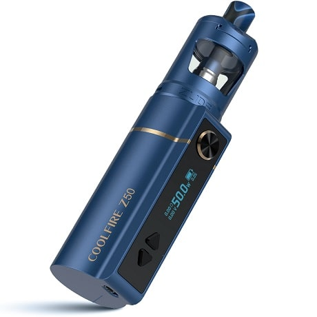 Innokin Coolfire Z50 Mod front view display in blue colour