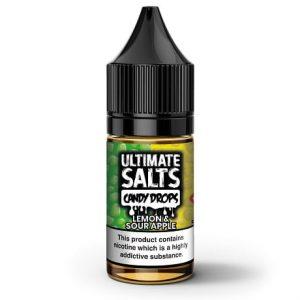 Lemon Sour Apple 10ml nic salt e-liquid by Ultimate Salts Candy Drops
