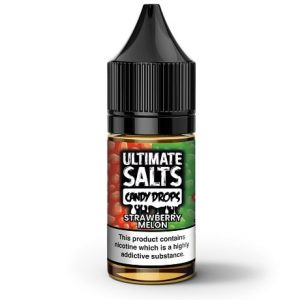 Strawberry Melon Candy Drops 10ml Nic salt e-liquid by Ultimate Salts