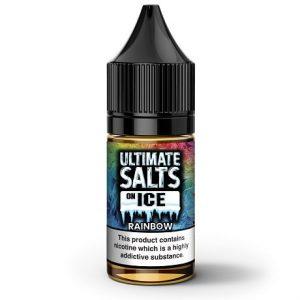 Rainbow Ice 10ml Nicotine Salt e-liquid by Ultimate Salts