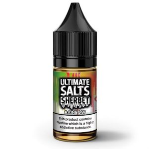 Rainbow Sherbet 10ml nic salt e-liquid by Ultimate Salts