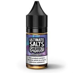 Raspberry Sherbet 10ml e-liquid bottle by Ultimate Salts
