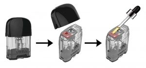 How to refill Caliburn G pod with an e-liquid