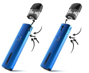 Pod system Caliburn G and its airflow
