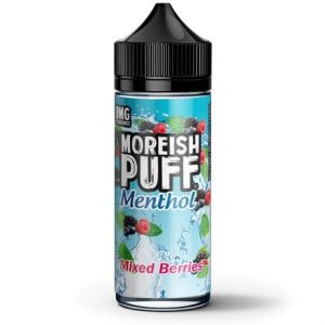 Mixed Berries Menthol 120ml Vape Juice bottle by Moreish Puff Menthol