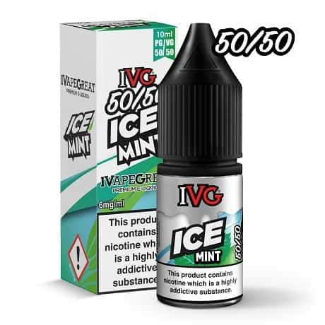 IVG Iced Mint 10ml e-liquid bottle