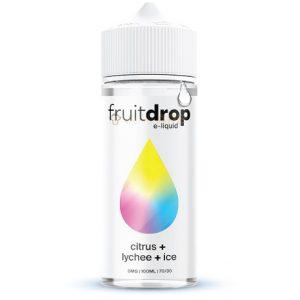 FruitDrop Citrus Lychee ICE 120ml e-liquid bottle