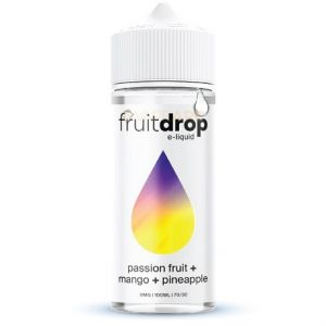 FruitDROP Passion Fruit Mango Pineapple 120ml e-liquid bottle