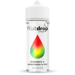 FruitDROP Strawberry Watermelon Kiwi 120ml e-liquid bottle