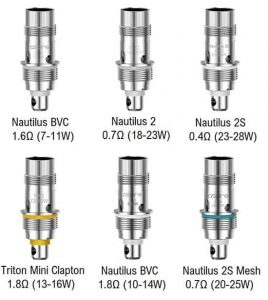 Aspire Nautilus BVC 3 Replacement Coils Specifications