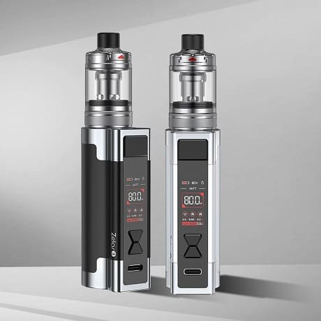 Aspire Zelos 3 kit in black and silver