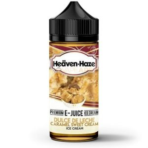 Heaven Haze Dulce De Leche Caramel 120ml Vape Juice Bottle