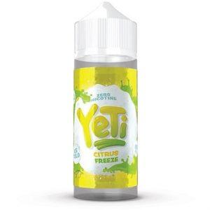 Yeti Citrus Freeze Ice Cold Vape Juice Bottle