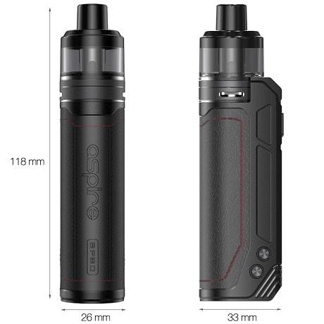 Aspire BP80 Pod Mod Vape kit Dimensions