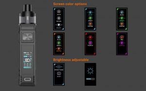 Aspire BP80 Screen Colour Option